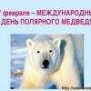 27 февраля — День полярного медведя