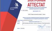 Демонстрационный экзамен по стандартам WorldSkills Russia