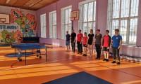 Товарищеская встреча преподавателей и студентов по настольному теннису.